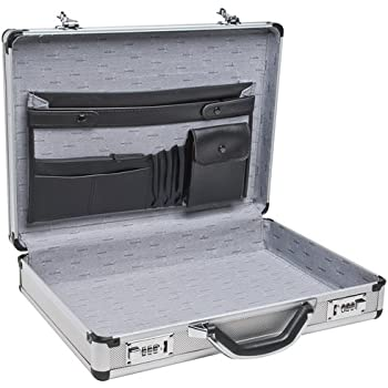 "RoadPro SPC-931R 17.5"" x 4"" x 13"" Silver Aluminum Briefcase,Medium"
