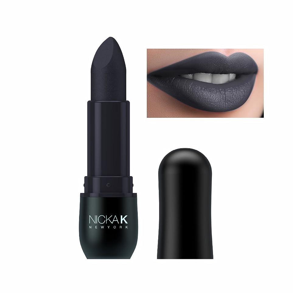 遺棄されたリビングルームブルゴーニュ(6 Pack) NICKA K Vivid Matte Lipstick - NMS15 Slate Gray (並行輸入品)