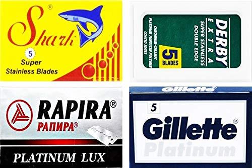 20 Rasierklingen von Derby, Shark, Rapira, GiIIette Platinum