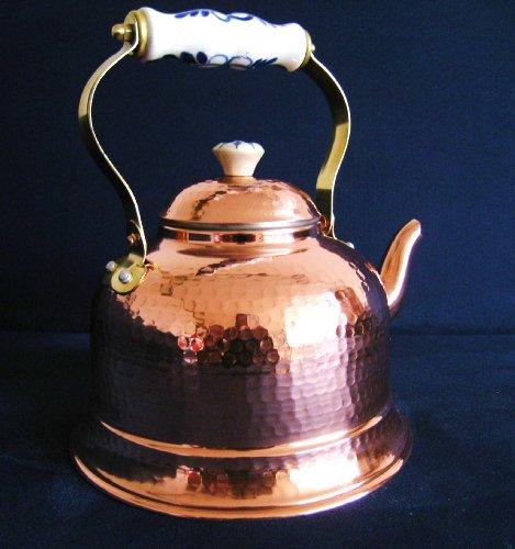 Traditionelle Teekanne aus Kupfer - Teekessel 1,5L - Zinnbelag innen