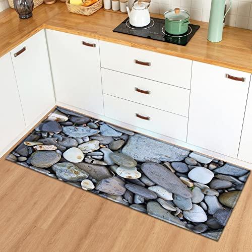 Alfombrillas de Cocina de adoquines Impresas en 3D, Alfombrillas de Entrada a la casa, alfombras Antideslizantes en pasillos y baños A7 50x160cm