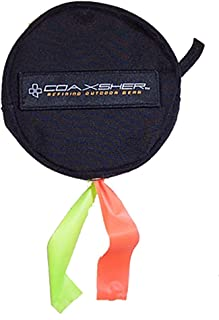 COAXSHER Dual Flagging Tape Dispenser, Black