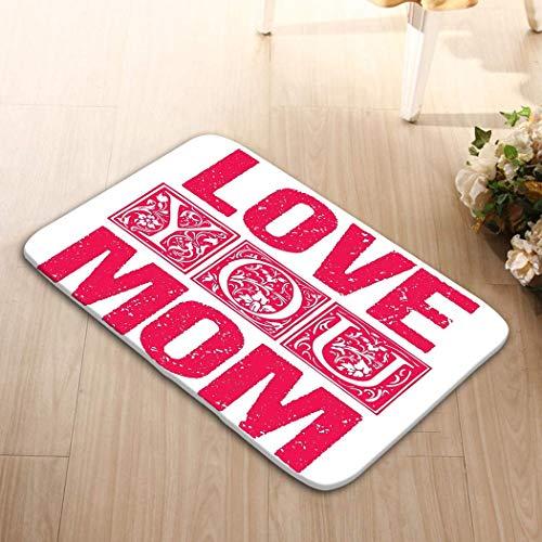 Amanda Walter Area Rugs 23,6 X 15,7 Love You Mom Design tipografico Carte Regalo Poster Etichette Etichette Stampa