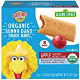 Earth's Best Organic Sesame Street Sunny Day Toddler Snack Bars with Cereal Crust, Apple, 8 Count...