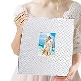 Album fotografico di matrimonio 10x15 cm 600 foto - Elegante album fotografico in pelle slip-in verticale e orizzontale 10x15 cm immagini con finestra, bianco