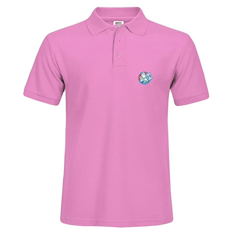 BettyBryant Cotton Polo Tee with Viking Raider Barbarian Warrior Axe Circle Retro Pattern for Men Size Personal Design