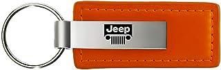 rosso dantegts Jeep parrilla Piel Llavero Cadena Tear Drop Llavero Lanyard
