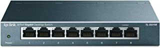 TP-Link 8-Port Gigabit Ethernet Network Switch, Sturdy Metal w/ Shielded Ports, Unmanaged (TL-SG108)