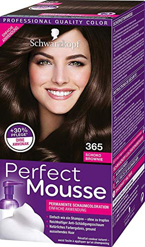 Schwarzkopf Perfect Mousse 365 - Tinte para el pelo (espuma), color marrón