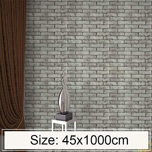 QYGGGwall - Pegatinas decorativas para pared, diseño de ladrillo gris y ladrillo de piedra en 3D