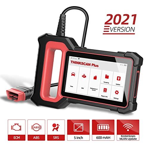 OBD2 Diagnosegerät THINKCAR ThinkScan Plus S2 OBD2 Bluetooth Adapter,2021Neue Version KFZ Auslesegerät mit 28 Wartungsdiensten und 3 Systemdiagnosen (Motor/ABS/SRS) Öl-Reset/EPB Kostenlose Nutzung