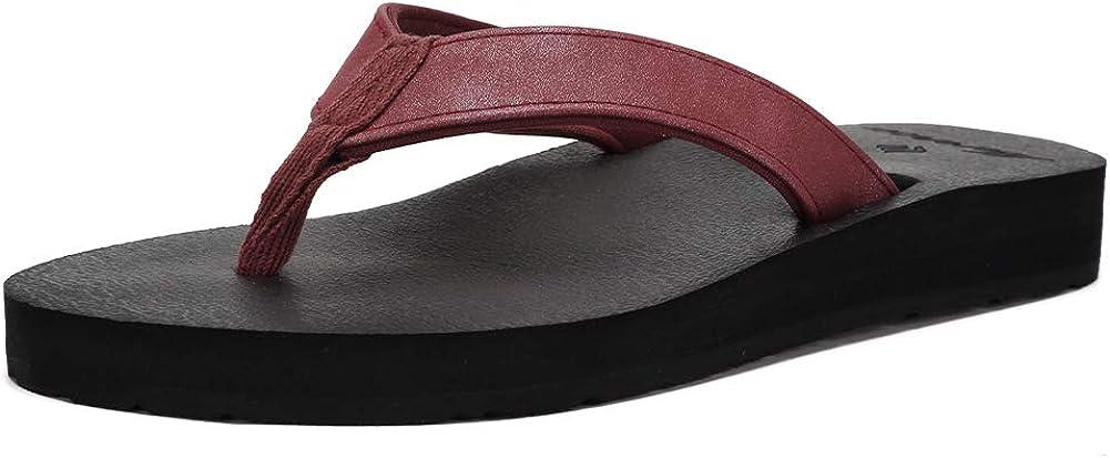 EQUICK Women's Flip Flops Arch Support Max cheap 43% OFF Mat Sandal Insole Ca Yago