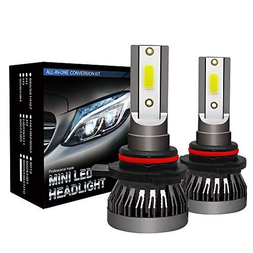 LED Headlight Bulbs, 60W 10000 Lumens Super Bright LED Headlights Conversion Kit Cool White IP68 Waterproof, Pack of 2(9012)