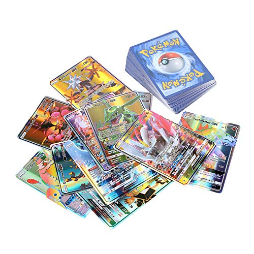 LICHENGTAI GX - Juego de cartas coleccionables de Pokémon Flash, 100 unidades, para niños