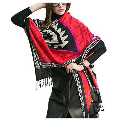 Dames Wollen Sjaal Winter Dual-use Mantel Nepalese Stijl