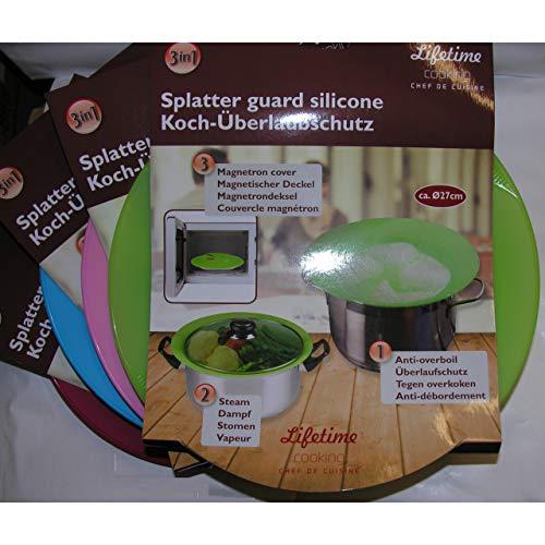 Überkoch-Stopp Spritz-Schutz Deckel aus Silikon Dampfgaren Mikrowelle Abdeckung lila
