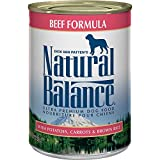 Natural Balance Ultra Premium Wet Dog Food, Beef Formula with Potatoes, Carrots & Brown Rice, 13 Ounce Can (Pack of 12)