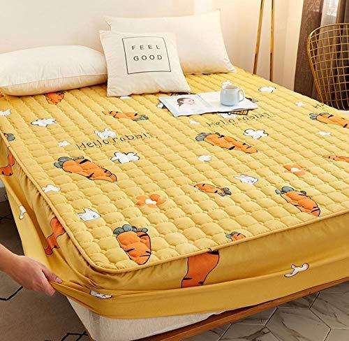 Transpirable - Funda para colchon,Sábana bajera de franela,con sábana de cama cálida de vellón de coral elástico,para manta de invierno en banda elástica Queen/King Size Sheets-L_180x200cm+30cm