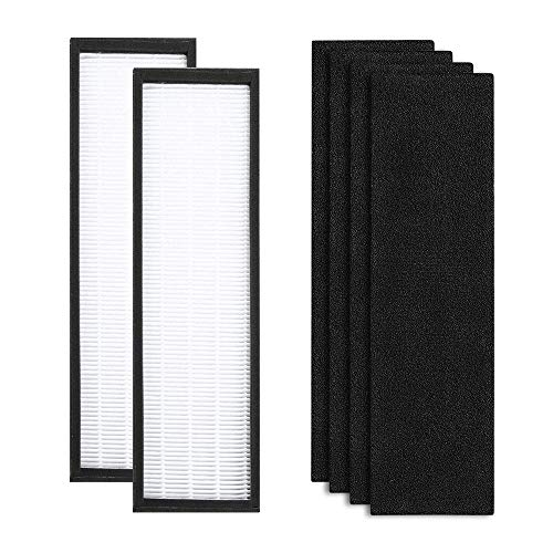 FLT4825 Premium True HEPA Replacement Filter B Compatible with GermGuardian and Germ Guardian Air Purifier AC4825, AC4825E,AC4300BPTCA, AC4850PT, AC4900CA (2 HEPA + 4 Carbon Filters)