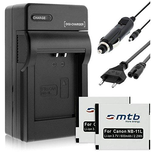 2 Baterìas + Cargador (Coche/Corriente) para Canon NB-11L / Ixus 125 HS, 265 HS, Powershot A2500. Ver Lista