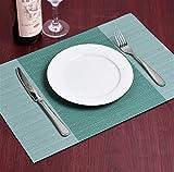 6 manteles Individuales de PVC para Cocina, comedores, Lavables, Impermeables, manteles Individuales al por Mayor Verde