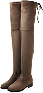 ad2c16958c324 Amazon.com: Autumn Falls falls - Brown / Over-the-Knee / Boots ...