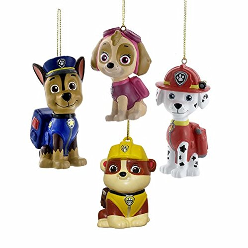 Kurt Adler 3-3.5' Paw Patrol Blow Mold Ornament 4 Piece Set