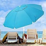 KITADIN 6.5FT Beach Umbrella Portable Outdoor Patio Sun Shelter...