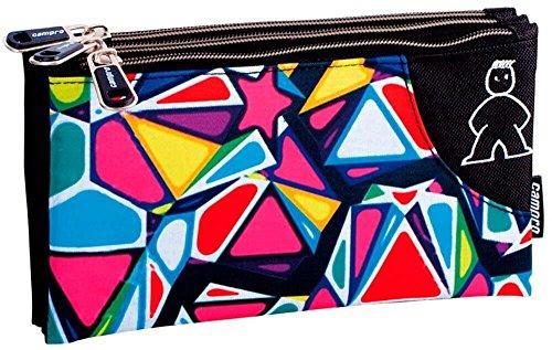 Montichelvo Montichelvo Triple Pencil Pouch CMP Cherry Trousses, 23 cm, Multicolore (Multicolour)