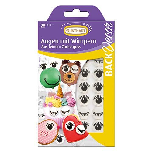 BackDecor Zucker Augen mit Wimpern