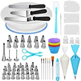 Kootek 178 Pcs Cake Decorating Kit Supplies with Cake Turntable Numbered Piping Tips E-book Guide...