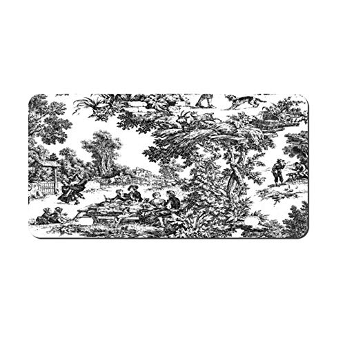 Tamengi Metal Aluminium Automotive License Plate Tag for Cars - Vintage Toile Black White Novelty Front Llicense Plate Decorative,6 X 12 Inch Made in USA