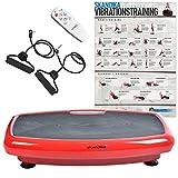 Skandika Home 600, Plataforma vibratoria, color Rojo