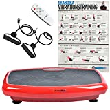 skandika Home Vibration Plate 600 Vibrationstrainer (in 3 Farben) (rot)
