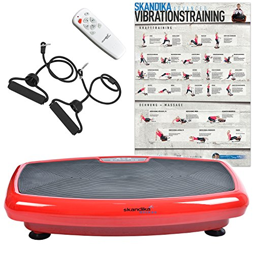 skandika Home Vibration Plate 600 Vibrationstrainer (in 3 Farben) (rot)