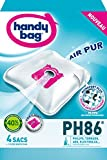 Handy Bag - PH86 - 4 Sacs Aspirateurs, pour Aspirateurs Philips, Electrolux, AEG et Tornado, Progress, Standard-Bag et...
