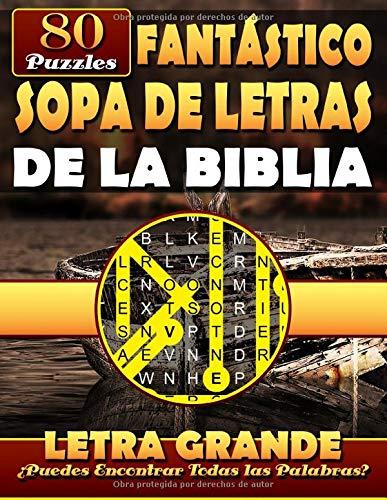 Fantástico Sopa de Letras de la Biblia (Letra Grande): Spanish Bible Word Search (Reina-Valera (RVR) Bible Version). Libros de la Biblia en Español