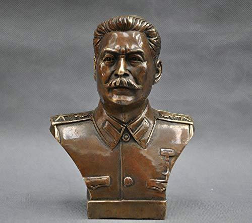 GJXDHWZ Statue 6 '' Russischer Anführer Joseph Stalin Büste Bronzestatue, Style.1