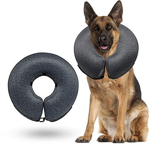 WONDAY Dog Cone Collar Soft, Pet Recovery Inflatable Collar for Dogs and Cats After Surgery, Protective E-Collars Prevent Dogs from Biting...