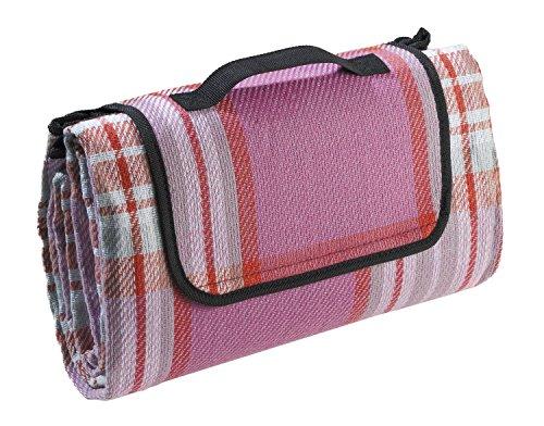 Biederlack Picknickdecke pink Größe 130x170 cm