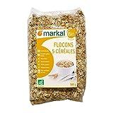 Markal Bio-Copos de cereales, 5 cereales:avena, trigo, cebada, arroz y centeno, paquete de 500g