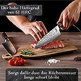 Kirosaku Premium Damastmesser 20cm – Enorm scharfes Küchenmesser aus hochwertigen japanischen Damaszener Stahl, um Problemlos alle Arten von Lebensmittel einfach zu schneiden, Dank bester Qualität - 4