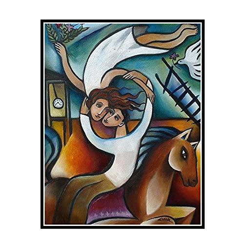 PDFKE Pintura Abstracta en Lienzo You Fell into my Dreams de Stephanie Claire Decoración de Pared Figura Pintura sobre Lienzo -50X65cm Sin Marco 1 PCS