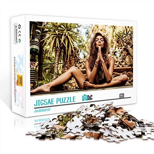 DUANGONGZI Rompecabezas de calidad cantante: Nicole Scherzinger impreso, 300 piezas, rompecabezas de obra de arte, regalos para adultos, adolescentes, niños, familias, 38 x 26 cm