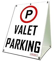18 x 24 VALET PARKING A-Frame Sidewalk Signage Sandwich Business Sign Printed Red & Black Front and Back [並行輸入品]