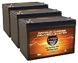 QTY3 VMAX MR127-100 12V 100AH AGM Deep Cycle Group 27 Batteries...