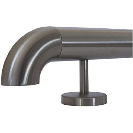 aus einem St/ück//ungeteilt 400cm 5 Edelstahl-Halter Edelstahl Bar-//Tresen-//Fu/ßstange /Ø 33,7 mm
