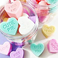 Valentines Day Gift for Her Pastel Conversation Heart SOAP in a Jar