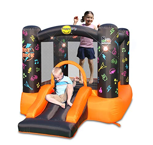 Happy Hop Kidz Rock Hit Me Bouncy Castle with Slide and Sound Play