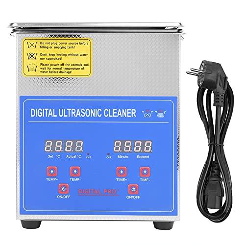 Ultraschallreiniger, 2 l, Ultraschall-Reinigungsgerät aus Edelstahl, mit digitalem Timer zum Reinigen von Schmuck und anderen empfindlichen Gegenständen.